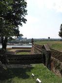 Kalemegdan fortress in Belgrade with green grass in summer — Stock Photo