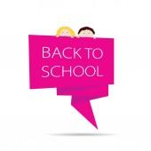 Terug naar school met kinderen kleur vector — Stockvector