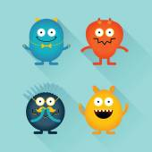 Good and evil monsters and characters — Stock Vector