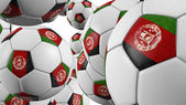 Afghanistan's soccer balls falling — Stock Photo