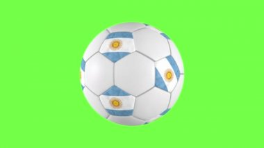 Argentinian soccer ball rotation — Stock Video