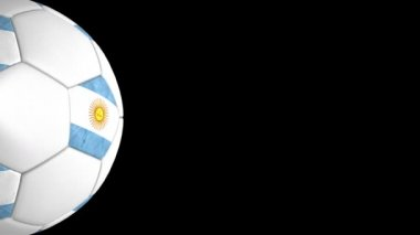 Argentinian ball transition — Stock Video