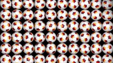 German balls rotation on black background — Stock Video