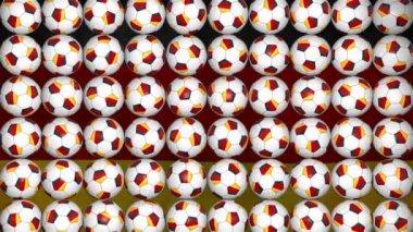 German balls rotation on flag background — Stock Video