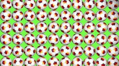 German balls rotation on green background — Stock Video