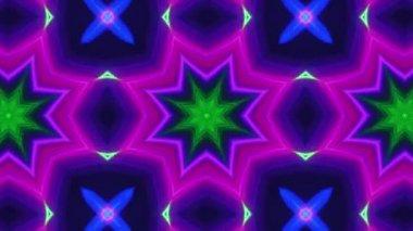 Neon disco kaleidoscope — Stock Video