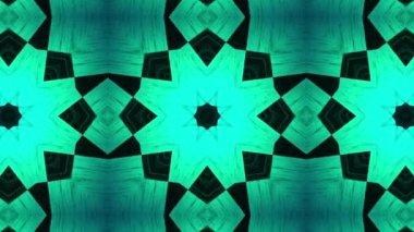 Neon NEO kaleidoscope — Stock Video