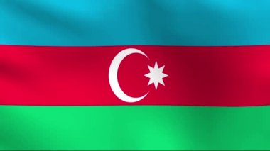 National flag of Azerbaijan — Stock Video