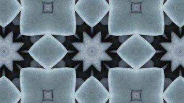 Geometric stones kaleidoscope — Stock Video