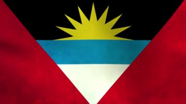 Flagge von Antigua und barbuda — Stockvideo