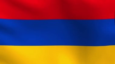 National flag of Armenia — Stock Video