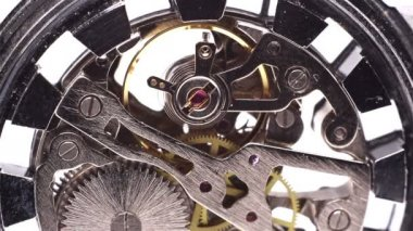 Metal clock mechanism — Stock Video