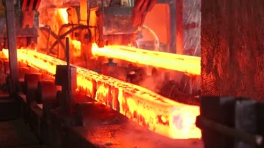 Steel making at the factory — Stock Video