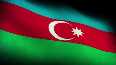 National flag of azeirbaijan — Stock Video