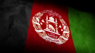 National flag of Afghanistan — Stock Video
