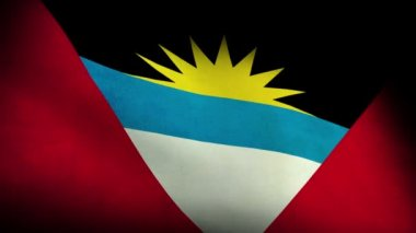 National flag of  antigua and barbuda — Stock Video