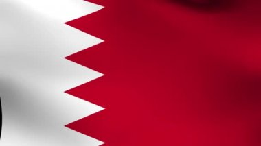 National flag of  Bahrain — Stock Video