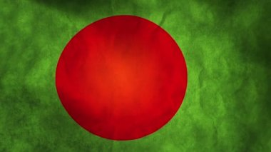 National flag of Bangladesh — Stock Video
