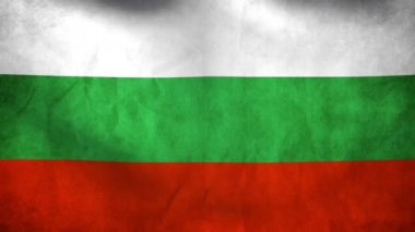National flag of Bulgaria — Stock Video