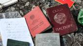 Passports of former Soviet Union — 图库照片