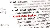 Word calculate  in dictionary — Stock Photo