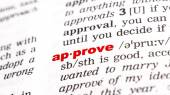 Word approve in dictionary — Stock Photo