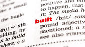 Built Word in dictionary — Stock Photo