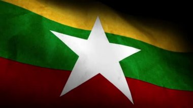 National flag of Burma — Stock Video