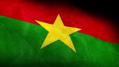 National flag of Burkina Faso — Stock Video
