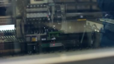 Automated machine at work — Stock Video