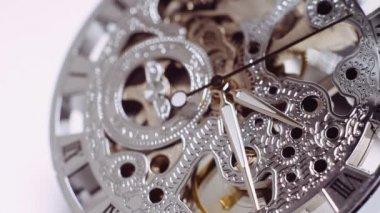 Vintage watch mechanism — Stock Video