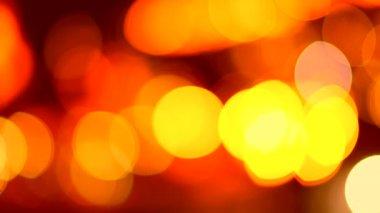 Ufuk gece trafik ışıkları — Stok video