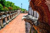 Eagle at Phetchaburi, Thailand: The opulent Phra Thinang — Stock Photo