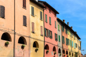Colored  buildings — Stok fotoğraf