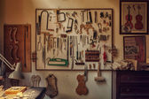Violin Maker Workbench — Stock Photo