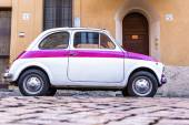 Vintage Italian Car Fiat 500 Urban Scene — Stock Photo