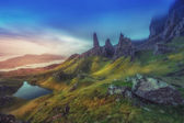 Dramatic Highland pinnacles Old Man of Storr Skye Scotland — Stock Photo
