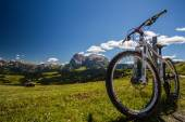 Bike on Sciliar — Foto Stock