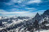 Mont Blanc panorama — Stock Photo