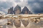Mountain panorama in Italy Dolomites — Stock Photo