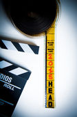 """35-миллиметровый заголовок фильма шатания с """"2015"""" структура, шатание и трещотка — Стоковое фото"""