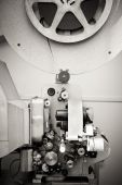 Cinema projector for 16 mm movie, old vintage  professional indu — Stock Photo