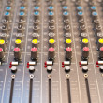 Music studio mixer detail — Stock Photo #79442796