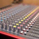 Music studio mixer detail — Stock Photo #80845304