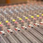 Music studio mixer detail — Stock Photo #80845346