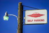 Alien Parking Only — Stock Photo