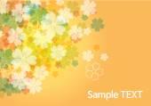 Beauty flower background - orange — Stock Vector