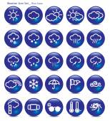 Icon set-weather-blue aqua — Stock Vector