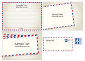 Air mail, postal stamp and letter — Vetorial Stock