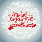Merry christmas , vector lettering — Stock Vector